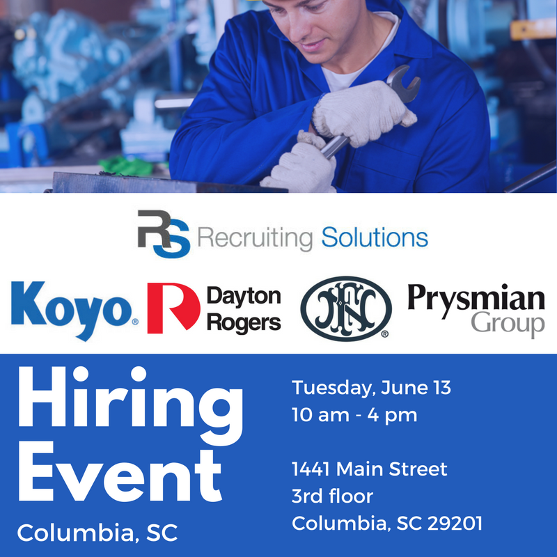 skilled manufacturing hiring event